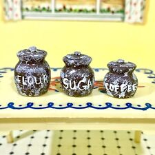 New ListingCharming Canisters for Kitchen Vintage Miniature Dollhouse Furniture 1:16 1:12