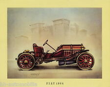 Poster Oldtimer Fiat 1904 37,5x30,5 cm Oldtimerposter Autoposter vintage car