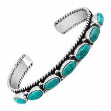 Silpada 'wythe' Natural Turquoise Cuff Bracelet in Sterling Silver