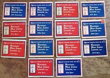 14 Cards, Years, Vtg. 1963-78 NATIONAL MAH JONGG Mahjong LEAGUE RULES GAME NMJL