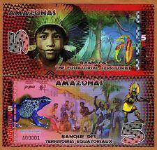 Equatorial Territories, Amazonas (Brazil), 5 E Francs, POLYMER, 2014, UNC