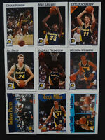 1991-92 Hoops Indiana Pacers Team Set Of 9 Basketball Cards Missing 3 Cards