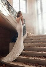 Sexy White/Ivory Lace Wedding Dress Bridal Gown Custom Size 6 8 10 12 14 16 18++