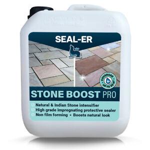 Stone Sealer Waterproofs Seals Enhances Easy Apply Slate Indian Stone Granite 5L