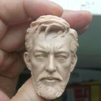 """Blank Hot 1/6 Scale Star Wars: Obi-Wan Head Sculpt Unpainted Fit 12"""" Figure"""