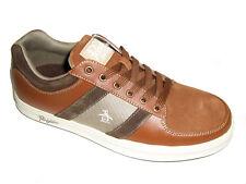Original Penguin Men's Shoes Jingle Leather Sneakers Kelp Toffee Brown Size 9