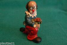 """knieender Gilde Clown mit Blumen aus dem 3er Set """"Blumenfreunde"""", Figur,"""