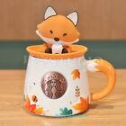 2021 Starbucks Hedgehog Rabbit Fox Forest Ceramics Mug Mid-autumn Festival New