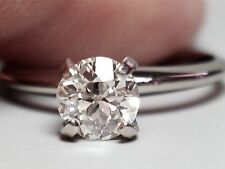 .65 CT OLD EUROPEAN CUT DIAMOND ENGAGEMENT RING H VS2 14K SOLID GOLD $4,575.00