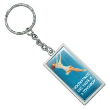 Rectangle  Procrastinate Like There is a Tomorrow Keychain Metal