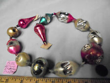 "Christmas Garland Mercury Glass Mixed 21"" Long 1.5""x2"" Large Beads #PL48 Vintage"