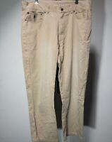 Polo Ralph Lauren Chino Pants Mens Khaki Beige Dungarees Cotton Size 36/34