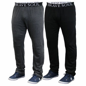 Mens Lounge Pyjamas Brave Soul Bottoms Pants Trousers Running Gym Summer New