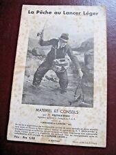 PRESKAWIEC LA PECHE AU LANCER LEGER 1938 Illustré CANNE MOULINET APPATS LIGNE