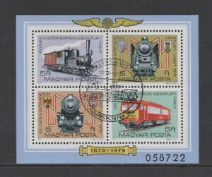 HUNGARY 1979 CENTENARY OF GYOR-SOPRON-EBENFURT RAILWAY M/SHEET *VFU/CTO*