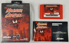 Maximum Carnage, SEGA Mega Drive Video Game, PAL, Boxed + Instruction Manual.