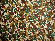 "Corduroy Mini-Wale Fabric, Multi-Color Abstract, 2 pc's, 42"" x 42"" & 103"" x18"""
