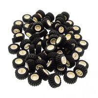 67 x Lego System Rad schwarz 30.4 x 14 Reifen Felge weiß 18mm D. x 14mm Räder Au