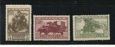 RUSSIA YR 1932,SC E1-3,MI 407-09,MLH,BIKE,TRUCK,TRAIN,SPECIAL DELIVERY