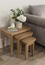 Solid Oak Nest Of Tables (Set Of 3) W57.5cm x D39cm H50cm BELLINI