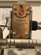 howard hot foil stamping machine