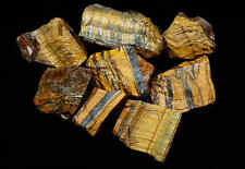 Tigers Eye Lots 10 Oz Natural Golden Brown Gemstone Mineral Specimens 6-7 Stones