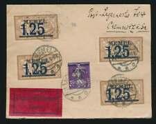 Memel Nr. 23 + 50 (4) Eilbotenbrief 1922 mit verklebter Postlageregebühr (61543)