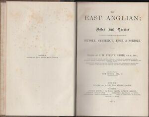 The East Anglian Essex Suffolk Cambridge Norfolk Vol. II 1887-1888 Collection