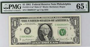 1981* $1 Philadelphia MULE STAR FRN 1911-Cm* • PMG 65 EPQ *KEY* • TOP POP 1/0
