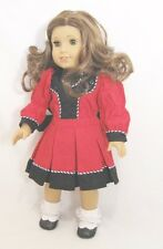 "Doll Clothes Fit AG 18"" Dress Rebecca Victorian Red Made For American Girl Dolls"