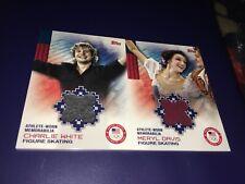Meryl Davis Charlie White Figure Skating Topps USA Olympics Worn Relic Cards