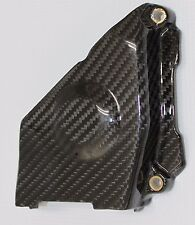 Ducati 749 999 Middle Belt Cover with Brass Inserts - Carbon Fiber