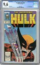 Incredible Hulk  #340   CGC   9.6  NM+  White pages Hulk vs Wolverine, X-Men App