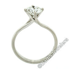 Jabel 18k White Gold GIA 1.02ct E SI2 Round Diamond Solitaire Engagement Ring