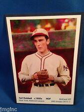 Carl Hubbell, New York,  ArtCard #67 - Baseball card  of HOF player c.1920s