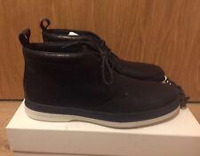 Paul Smith Inkie Dark Navy Milano Crust Leather Chukka Boots Size 7/EU 41