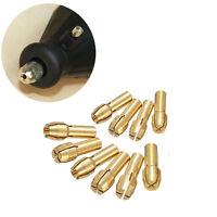 10Pcs Brass Drill Chuck Collet Bits 0.5-3.2mm 4.8mm Shank For Rotary Tool XG