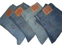 Herren Original Levis 511 Blau Slim Fit Jeans W32 W31 W34 W36 W38 W40