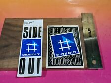 Vintage Sideout Beach Volleyball stickers Side-Out lot of 2