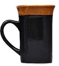 MUGS!STONEWARE,COFFEE,TEA,ETC,SQUARE SHAPED,THREE(3)!BLACK,NWT,HEFTY,FREE SHIP!