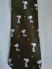 Peanuts Snoopy Tie Cartoon Green Fun Novelty Party Gift Office