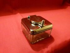 GEORGIAN 1817 SOLID SILVER AND CUT GLASS TRAVELLING INKWELL.LOVELY PIECE.