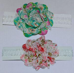 Big Pretty Flower Baby Headband. Choice of Colour. UK