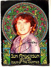 Original 1980 Jon Anderson British Tour Uk Concert Tour Booklet Program Signed
