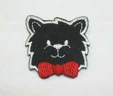 """""""Happy Black Cat"""" Iron On Patch children Embroidered Applique Jacket Shirt Pants"""