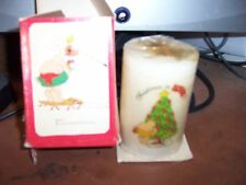 Vintage Ziggy Christmas is Love Candle with Box