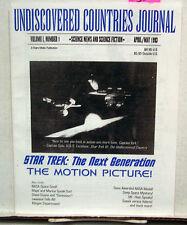 1993 Star Trek: Next Generation Fanzine- UNDISCOVERED COUNTRIES JOURNAL