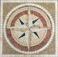 Rosoni in marmo, mosaici ROSA DEI VENTI N1 in marmo   CM 120X120