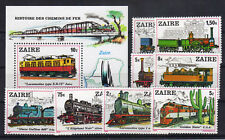 Zaire 622/29 Bl. 31 postfrisch / Eisenbahn ............