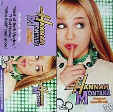 HANNAH MONTANA Two Side PROMO Poster MILEY CYRUS Miley Stewart  RARE Billy Ray